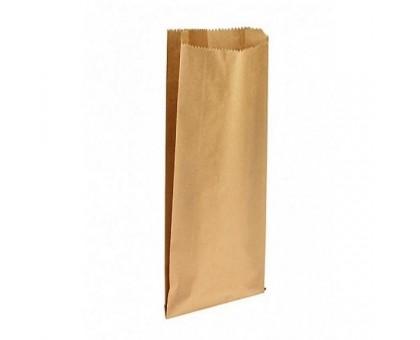 Пакет бумажный для пищевых продуктов, 100х50х300мм, с плоским дном, бурый