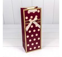 Бумажный подарочный пакет, 14х35х11см, 0М300148М, под бутылку