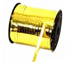Лента полипропиленовая, 0.5см, 250 ярд, металлизированная, золотая