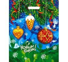 Пакет новогодний Год сказки, 38х47, вырубная ручка