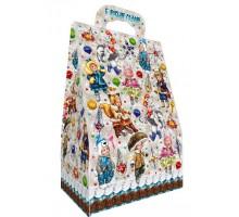 Новогодняя подарочная коробка Сумочка мини «Паттерн Дети», 700 грамм