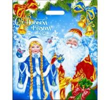 Пакет новогодний В гостях у сказки, 40х47, вырубная ручка