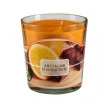 Ароматическая свеча в стакане Апельсин в шоколаде