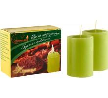 Свечи подарочные, столбик, с ароматом Корица, 2шт/уп