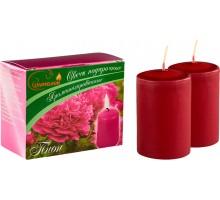 Свечи подарочные, столбик, с ароматом Пион, 2шт/уп