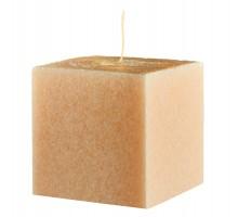 Свеча подарочная Куб, с ароматом Персик, 75мм, 350 грамм