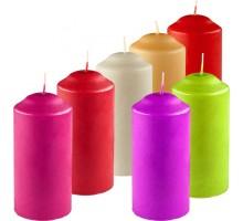 Свеча декоративная Столбик, цвет в ассортименте