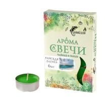 Свечи ароматизированные чайные CHAMELEON «Райская лагуна», 6 шт, в гильзе