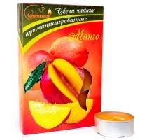Свечи ароматизированные чайные CHAMELEON «Манго», 6 шт, в гильзе