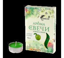 Свечи ароматизированные чайные CHAMELEON «Яблоко», 6 шт, в гильзе