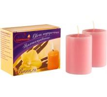 Свечи подарочные, столбик, с ароматом Ваниль, 2шт/уп