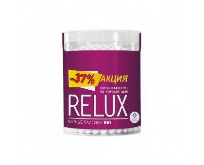 Ватные палочки Relux, 100 шт., цилиндр