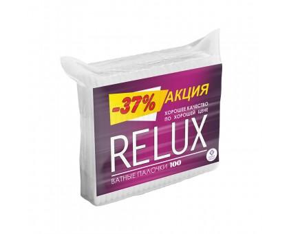 Ватные палочки Relux, 100 штук, в пакете