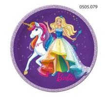 Тарелка бумажная Barbie, 180мм, 0505079, ArtDesign