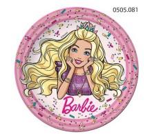 Тарелка бумажная Barbie, 180мм, 0505081, ArtDesign