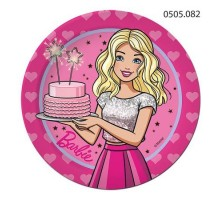 Тарелка бумажная Barbie, 180мм, 0505082, ArtDesign