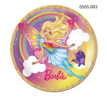 Тарелка бумажная Barbie, 180мм, 0505083, ArtDesign