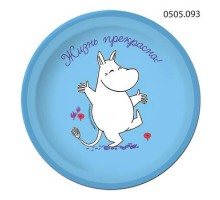 Тарелка бумажная Moomin, 180мм, 0505093, ArtDesign