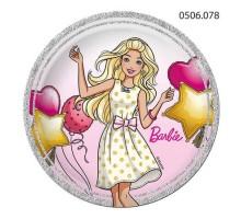 Тарелка бумажная Barbie, 230мм, 0506078, ArtDesign