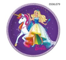 Тарелка бумажная Barbie, 230мм, 0506079, ArtDesign