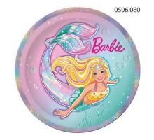 Тарелка бумажная Barbie, 230мм, 0506080, ArtDesign