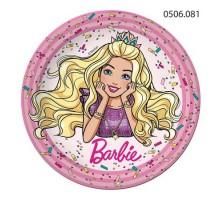 Тарелка бумажная Barbie, 230мм, 0506081, ArtDesign
