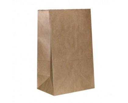 Пакет бумажный, 220х120х290, прямоугольное дно, крафт