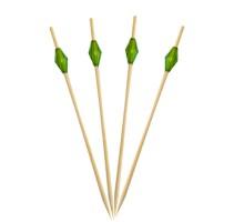 """Пика бамбуковая для канапе """"Изумруд"""", 9см, 100шт/упак"""