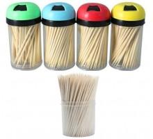 Зубочистки деревянные, 100шт, в стакане, 12 шт