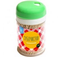 Зубочистки гладкие, деревянные, 200 штук, АкваМаг, 3-014, 12 упаковок