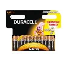 Батарейка щелочная Duracell AAA/LR3, 12 шт/уп