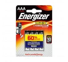 Батарейка Energizer Max+Power Seal AAA/LR03 4шт/уп