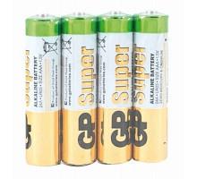 Батарейка GP Super 24A, тип AAA (LR03), 4 шт/уп