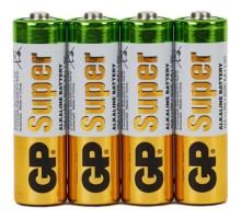 Батарейка GP Super 15A8, тип AA (LR06), 4 шт/уп