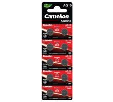 Батарейки дисковые Camelion G10, (LR1130), BL10, 10 штук