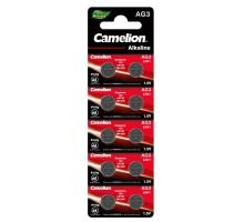 Батарейки дисковые Camelion AG3, LR41, A192, 10 штук