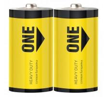 Батарейка солевая Smartbuy ONE R20/2S