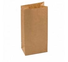 Пакет бумажный, 80х50х170, прямоугольное дно, крафт