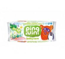 """Детские влажные салфетки Ping&Vini BabyCare """"Ромашка и мелисса"""", 64 шт, с крышкой"""