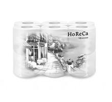 Туалетная бумага Plushe HORECA, 2 слоя, 12 рулонов