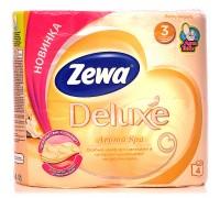 Туалетная бумага Zewa Deluxe, 3 слоя, 4 рулона, в ассортименте
