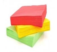 Салфетка барная бумажная Радуга, 24х24см, 1 слой, цветная, 330 листов, 5 цветов