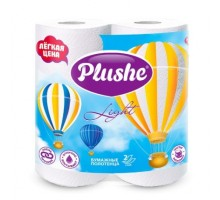 Полотенца бумажные Plushe Light, 2-слойные, 2 рулона