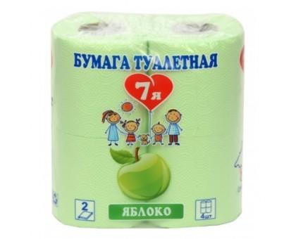 """Туалетная бумага """"7Я"""", 2 слоя, 4 штуки, цветная"""