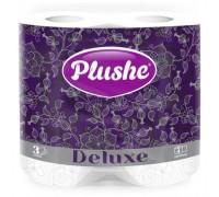 Туалетная бумага Plushe Deluxe, 3 слоя, 4 рулона