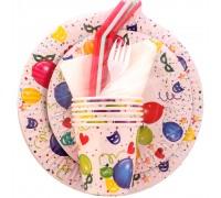 """Набор бумажной посуды """"Праздничный №1"""" на 6 персон, 6 предметов"""