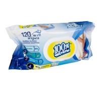 Салфетка влажная 120шт 100% с клапаном ЧИСТОТЫ *14