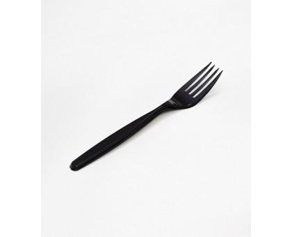 Вилка пластиковая Complement Премиум, 18 см, черная, 10 шт/уп