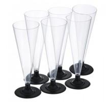 Набор бокалов для шампанского, 150 мл, Кристалл, 6 шт/уп