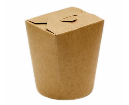 Упаковка для лапши WOK, крафт картонная, 700мл